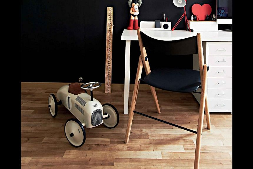 To prevent laminate flooring from being scratched, move furniture pieces around with care.