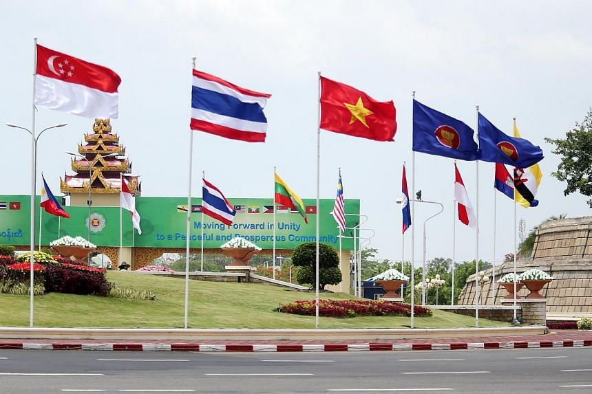 Myanmar welcome the Asean delegates to the Asean Summit 2014. -- PHOTO: ZAOBAO