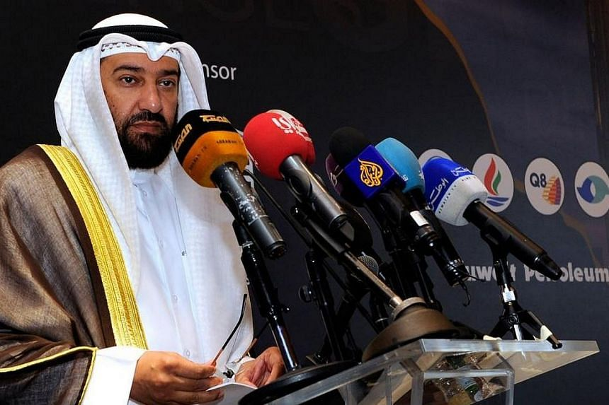 Kuwaiti Oil Minister Ali al-Omair speaks during the Gulf Petroleum Forum (GPF) on April 7, 2014, in Kuwait city.Kuwait's state oil group said on Sunday, May 11, 2014, it would sign a six-year liquefied natural gas (LNG) supply deal with Royal D