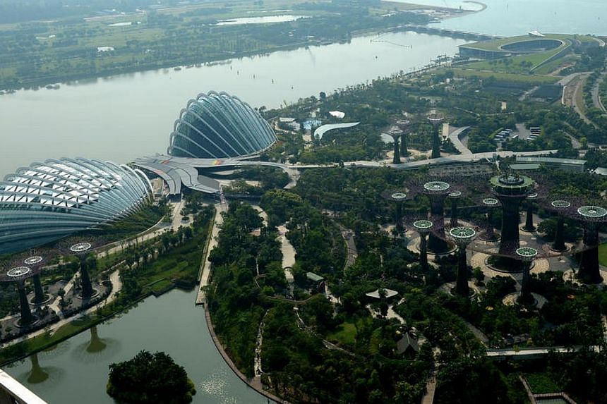 Gardens by the Bay wasone of two projects which achieved a Universal Design Mark Platinum - the highest possible award - at this year's BCA Universal Design Awards.. -- ST FILE PHOTO:JAMIE KOH