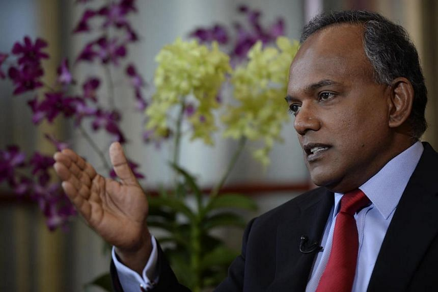 Foreign Affairs Minister K. Shanmugam will be in the United States next week on an official visit, said the Ministry of Foreign Affairs (MFA) in a statement on Sunday, May 11, 2014. -- ST FILE PHOTO: DESMOND LIM