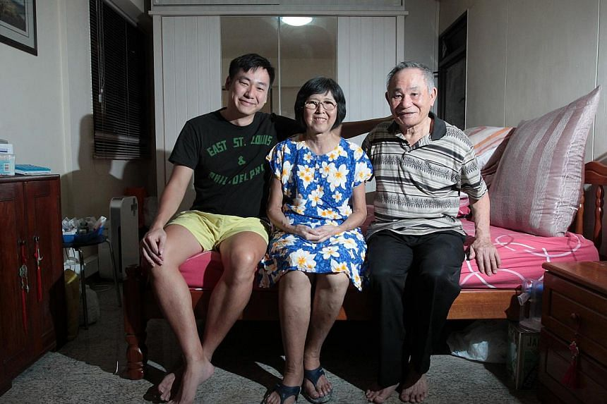 Mr Wilson Wong (left) was determined to donate part of his liver to his mother, Madam Lee (centre), despite scans that showed the procedure would leave him with only a quarter of his liver, less than the 30 per cent recommended. His father, Mr Willy