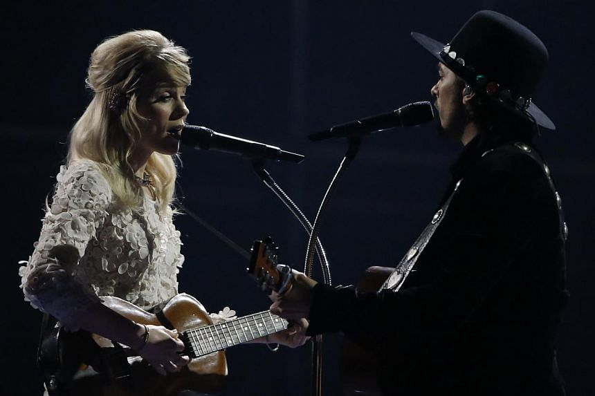 The band Common Linnets representing The Netherlands perform their song Calm After The Storm during the grand final of the 59th Eurovision Song Contest at the B&W Hallerne in Copenhagen on May 10, 2014. -- PHOTO: REUTERS