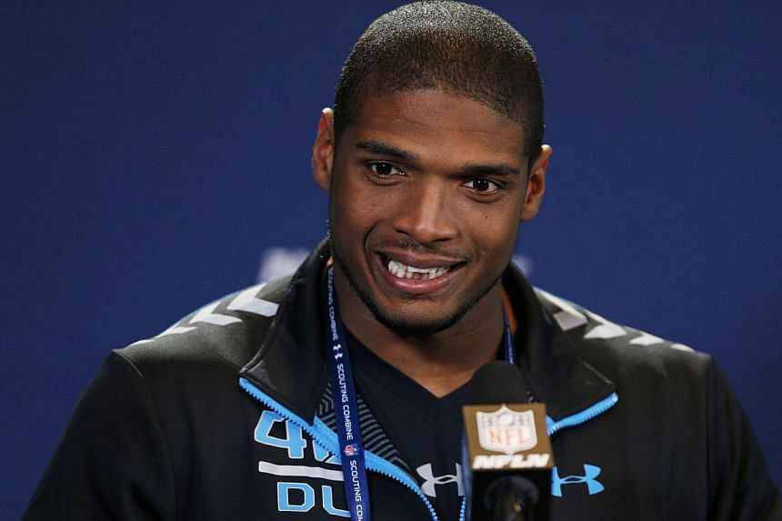 The National Football League Draft selected its first openly gay player Saturday when the St. Louis Rams took Michael Sam in the seventh round. -- FILE PHOTO: REUTERS