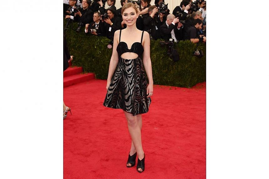 "Imogen Poots attends the ""Charles James: Beyond Fashion"" Costume Institute Gala at the Metropolitan Museum of Art on May 5, 2014 in New York City. -- FILE PHOTO: AFP"