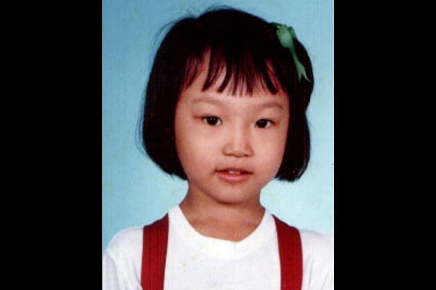Lin Peifen at age six (above) and in 2005 with Taiwan rock band Mayday, whom she interviewed for radio. -- PHOTO: COURTESY OF LIN PEIFEN