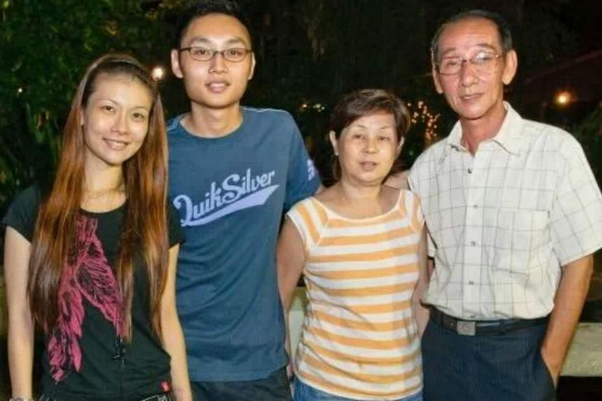 From left: Ms Sheryll Soh, her brother, her mother, Madam Bay, and her father. -- PHOTO: SHERYLL SOHThough she's not my biological mother, my mum has been looking after me since I was one. She took on the responsibility without any complaints. She's