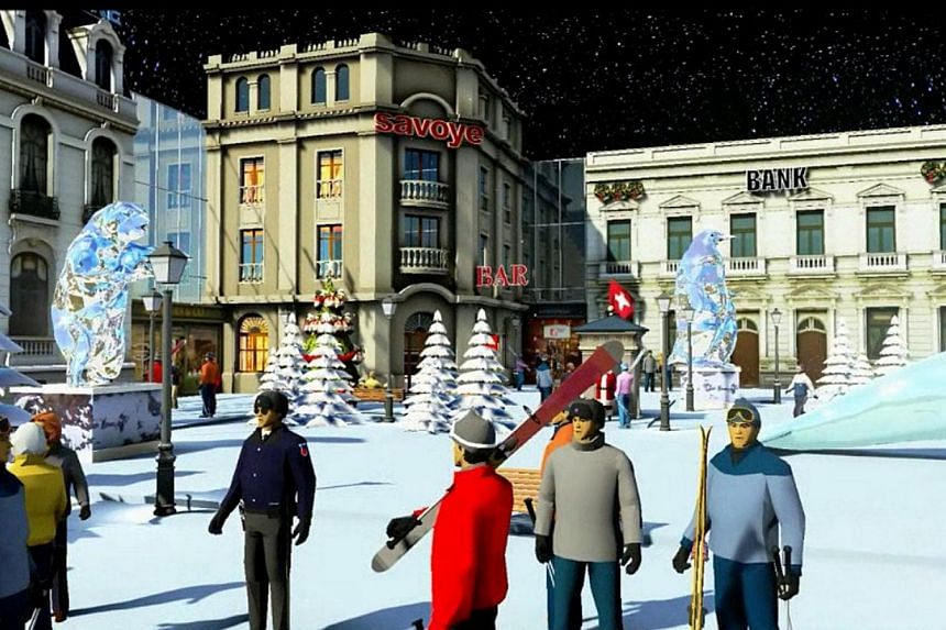 An artist's impression of Winterland Shanghai, an integrated indoor winter resort to be built in Shanghai, China, by Singapore developer KOP Properties. KOP wants to be one of the largest entertainment real estate players in Asia, following its succe