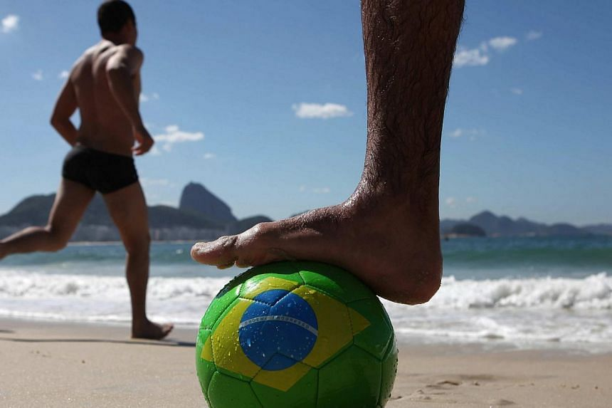 A month away from hosting the World Cup, Brazil on Monday launched a new international tourism campaign designed to reach more than a billion people, insisting expected anti-Cup protests will not spoil the show. -- PHOTO: EPA
