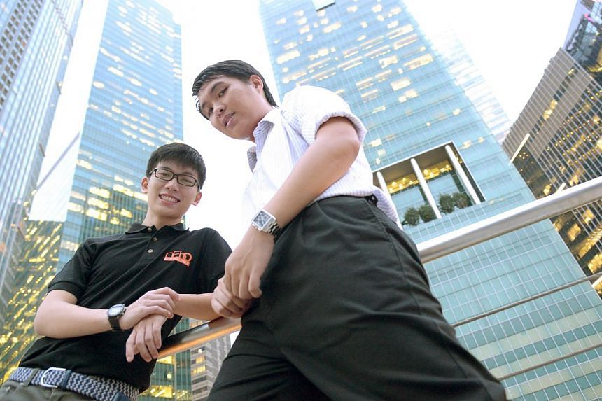 Mr Clarence Ngoh (left), who joined NTUC's junior membership arm nEbO in 2010, is keen on planning charity events and gaining leadership skills. The friendships Mr Ong Ting Swee (right) made when he was a junior member has made the engineer stay on w
