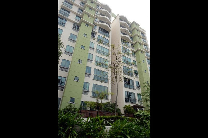 The 45-year-old woman was found at the foot of Block 49 at Springdale Condominium on Saturday morning.
