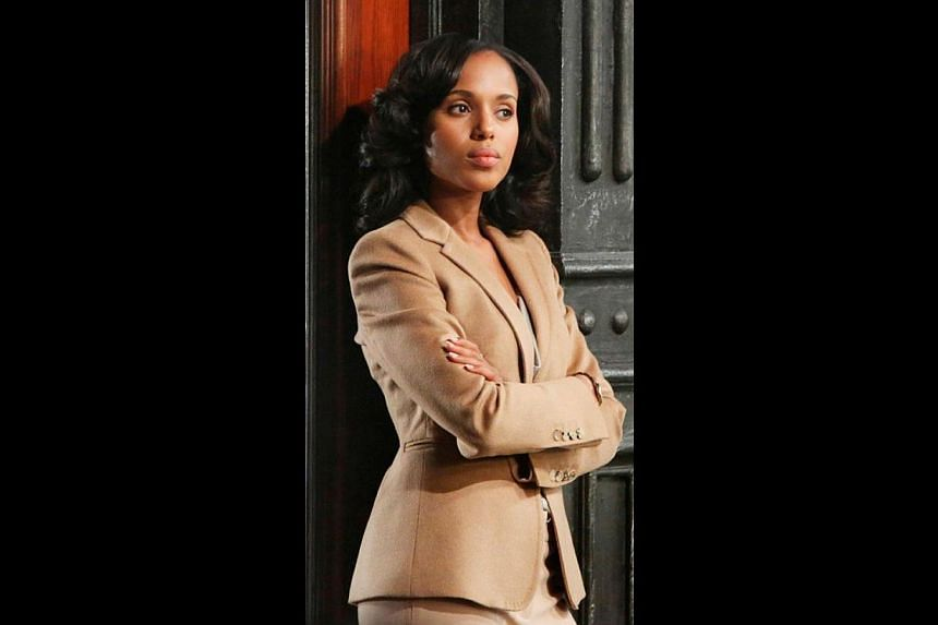 Power players Kevin Spacey in House Of Cards and Kerry Washington (above) in Scandal. -- PHOTO: STARHUB