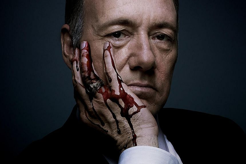 Power players Kevin Spacey (above) in House Of Cards and Kerry Washington in Scandal. -- PHOTO: NETFLIX