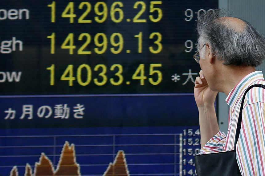 Tokyo stocks opened 1.54 per cent higher on Tuesday after record-setting advances on Wall Street. -- FILE PHOTO: EPA