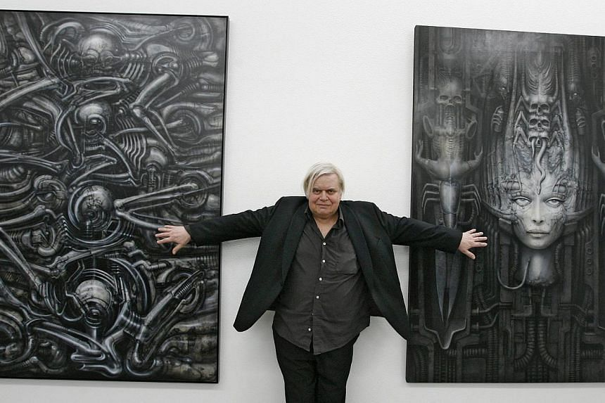 Swiss artist H. R. Giger at the opening of an exhibition on his work at the art museum in Chur, Switzerland on June 26, 2009. Swiss surrealist designer Hans Ruedi Giger, who won an Oscar for the monster he created for Ridley Scott's film Alien, has d