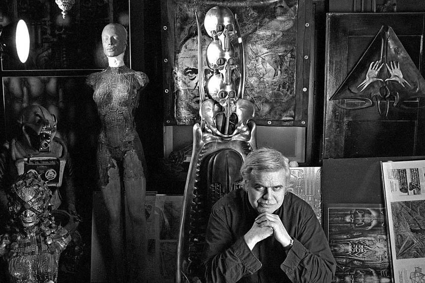 Swiss artist H. R. Giger in his home in Zurich, Switzerland on Jan 29, 1995. -- FILE PHOTO: EPA