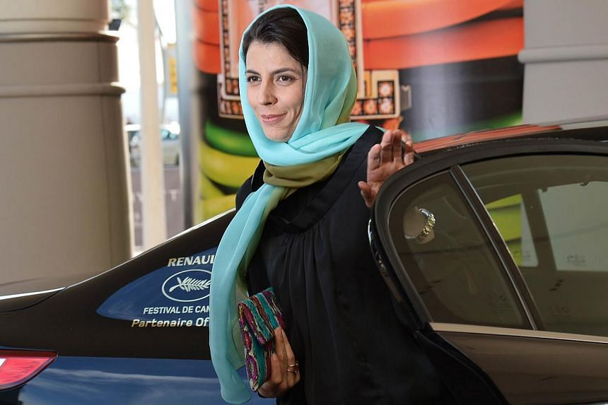 Iranian actress and member of the Feature films Jury Leila Hatami arrives at the Grand Hyatt Cannes Hotel Martinez on the eve of the 67th edition of the Cannes Film Festival in Cannes, southern France on May 13, 2014. -- PHOTO: AFP