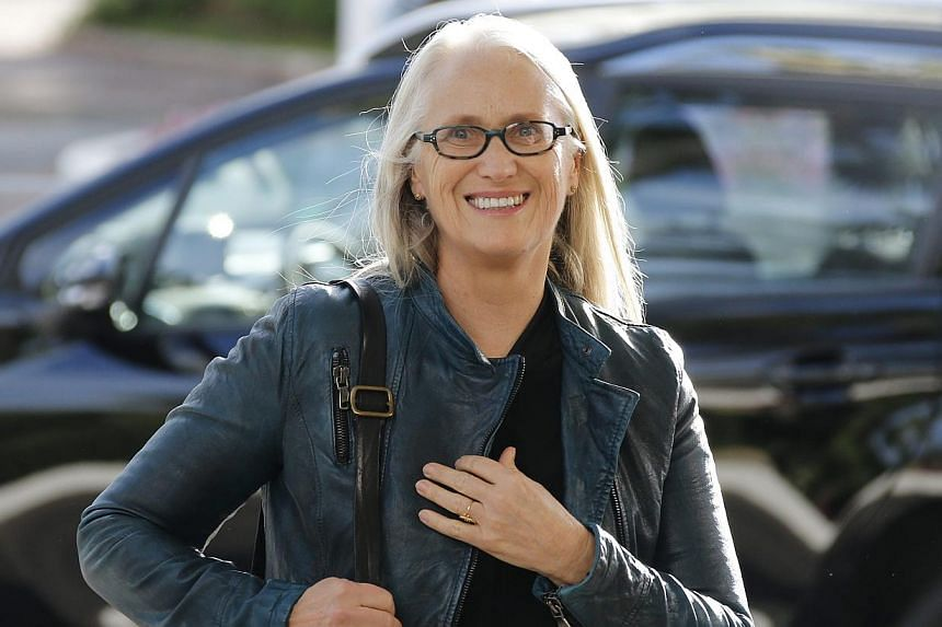 President of the Jury, New Zealand film director Jane Campion, arrives at the Martinez Hotel ahead of the 67th Cannes Film Festival, in Cannes, southern France on 13 May 2014. -- PHOTO: EPA