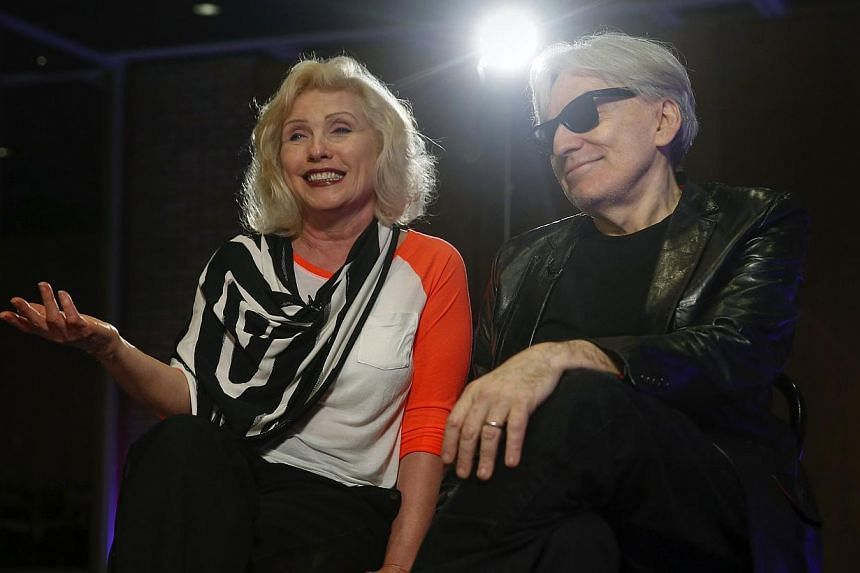 Blondie's Deborah Harry and guitarist Chris Stein speak during an interview in New York on May 12, 2014.Four decades after their debut, the 1970s pioneering New York City new wave and punk group Blondie released their 10th studio album, G