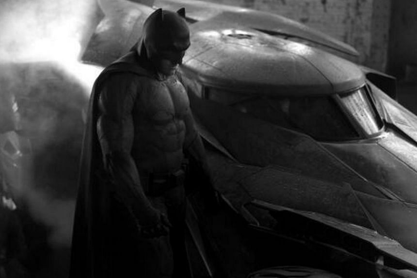 Batman Vs. Superman director Zack Snyder has unveiled actor Ben Affleck's new look as the Caped Crusader on Twitter. -- PHOTO: TWITTER ACCOUNT OF ZACK SNYDER