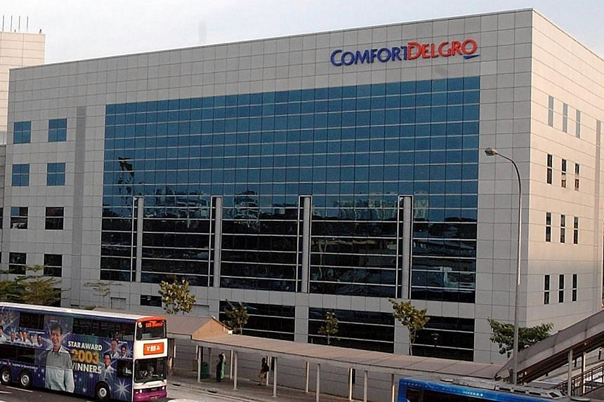 Comfort DelGro building along Braddell Road. ComfortDelGro's Q1 net profit rose 9.7 per cent year-on-year to $63.3 million on $950.8 million in revenue. -- ST FILE PHOTO: ABDUL AZIZ HUSSIN