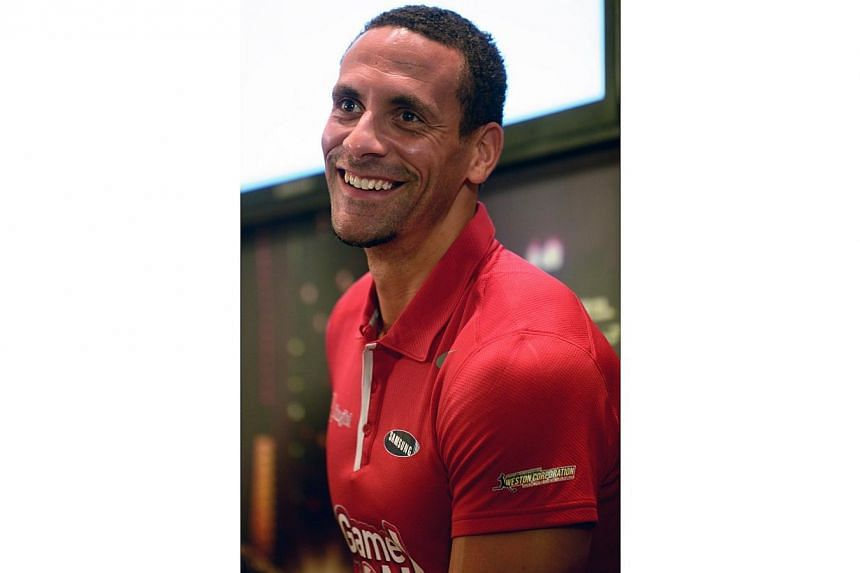 Former Manchester United player Rio Ferdinand attends a press conference in Singapore on May 15, 2014 for the SG Game ON! Ultimate Selfie Challenge.He may have been a loyal servant to England but Rio Ferdinand believes that Roy Hodgson's men ha