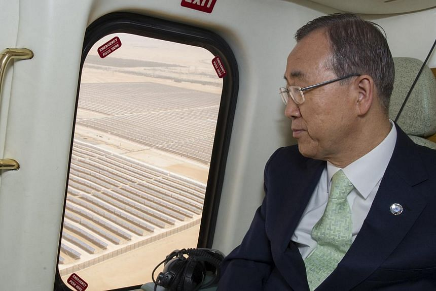 UN chief Ban Ki Moon will leave for China at the end of the week to discuss the nation's role in combating climate change. -- FILE PHOTO: REUTERS