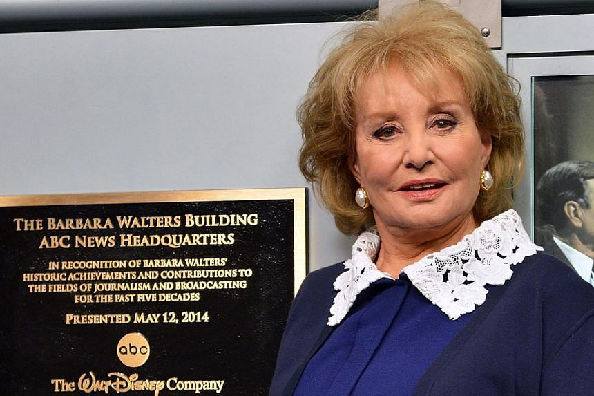 Barbara Walters attends the dedication ceremony as ABC News headquarters in New York is proclaimed 'The Barbara Walters Building' ABC News Headquarters Dedication Ceremony on May 12, 2014 in New York City. -- PHOTO: AFP