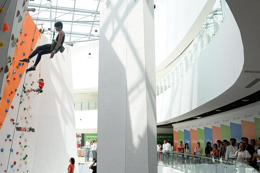 The Kallang Wave mall could lead to dramatic growth in SMRT's non-fare revenue. -- ST PHOTO:AZIZ HUSSIN
