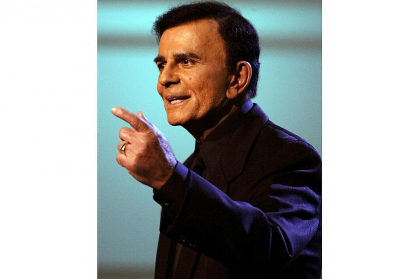 US television and radio personality Casey Kasem appears on the American Top 40 Live show in Los Angeles, California in this April 24, 2005 file photo. -- PHOTO: REUTERS