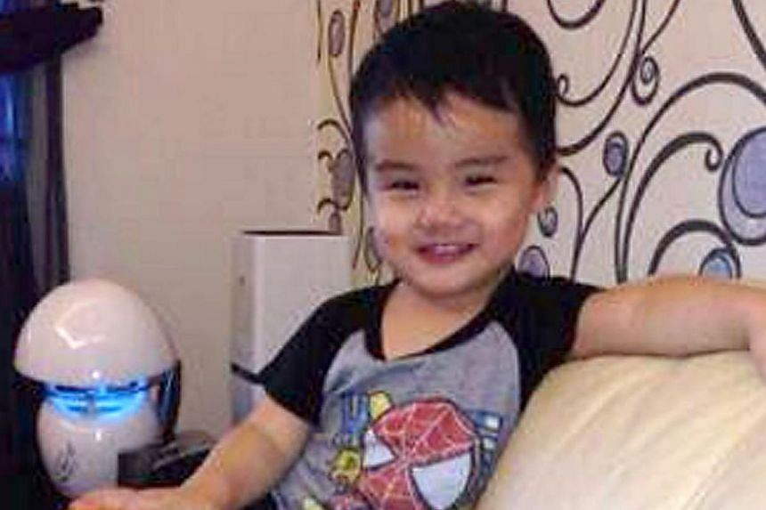 Low Min You, a three-year-old toddler, went missing after his father left his Toyota four-wheel drive with the engine running at a petrol kiosk to visit a toilet at around 5.50am on 8 May 2014. -- FILE PHOTO: SIN CHEW DAILY