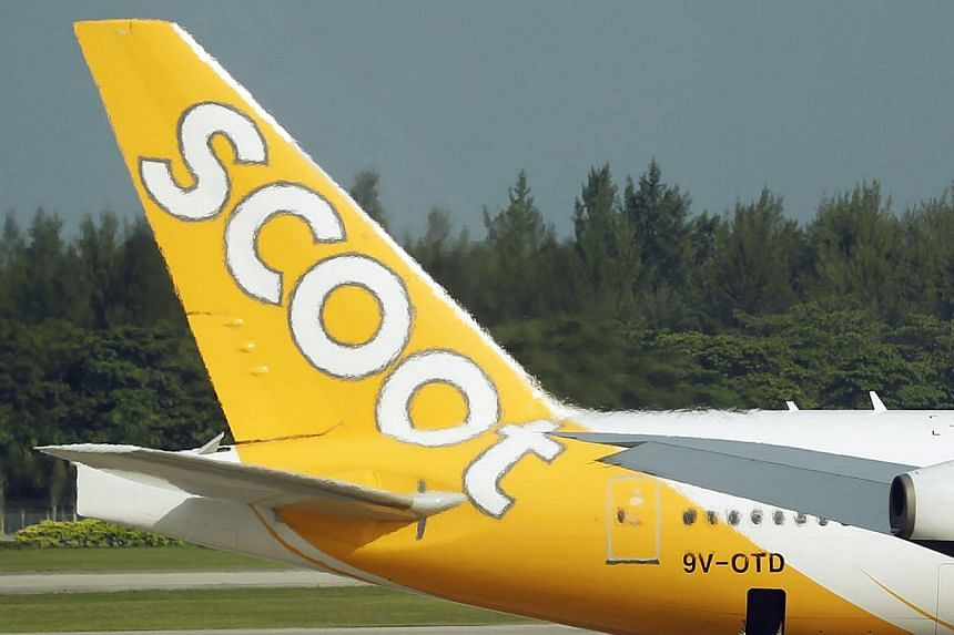 Long-haul budget carrier Scoot which will start flying the Boeing 787 Dreamliner later this year has inked a five-year pilot training deal with the American plane maker. -- ST FILE PHOTO: LIM WUI LIANG