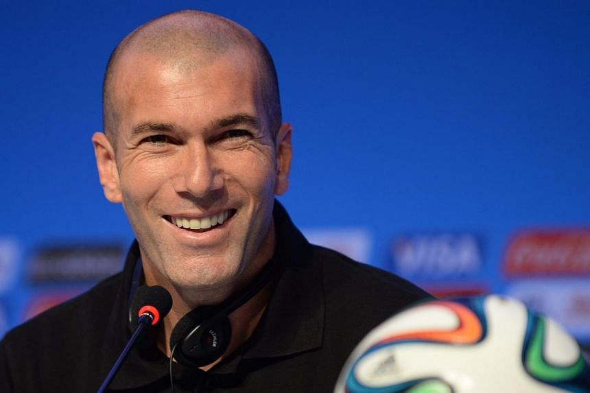 A picture taken on Dec 5, 2013, shows French footbal star Zinedine Zidane during a press conference on the eve of the Brazil 2014 FIFA Football World Cup final draw,in Costa do Sauipe.-- FILE PHOTO: AFP
