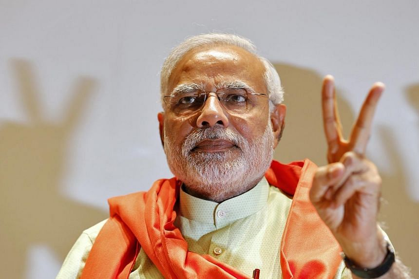 """Acknowledging BJP's strong electoral showing, its prime ministerial candidate Narendra Modi, the 63-year-old son of a low-caste tea seller tainted by anti-Muslim violence in his home state of Gujarat in 2002, tweeted on Friday that """"India has"""