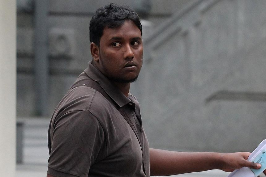 Former Certis Cisco security guard Kalaiarasan Muniandy was charged with corruption on May 9, 2014. A former Certis Cisco security officer who accepted $10 from an MRT passenger in return for turning a blind eye to her drinking water in a station was