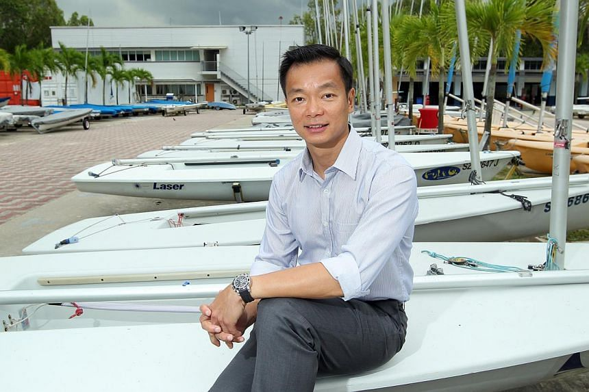 Singapore Sailing Federation president Ben Tan, a former national sailor who competed at the Olympics, has stepped forward as a candidate for Nominated Member of Parliament. -- ST PHOTO:SEAH KWANG PENG