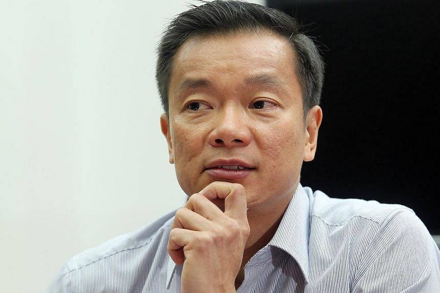 Singapore Sailing Federation president Ben Tan has thrown his hat into the ring as a candidate for Nominated Member of Parliament, after submitting the necessary forms on Monday.-- ST PHOTO: SEAH KWANG PENG