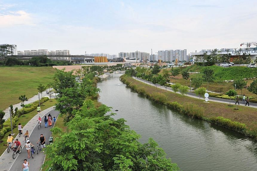 My Waterway @ Punggol, a 4.2km man-made river that runs right through Punggol Town. My Waterway @Punggol, a 4.2km man-made river that runs right through Punggol Town. Parliament's re-opening on Friday was marked by a pledge by political lea