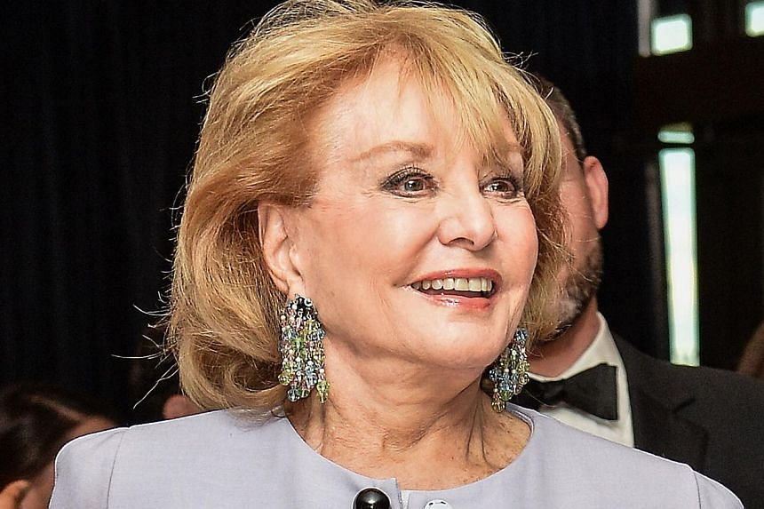 This May 3, 2014 file photo shows Barbara Walters arriving for the White House Correspondents' Association (WHCA) annual dinner in Washington. The pioneering US television journalist signed off for the last time on May 16, bidding fans a fond farewel