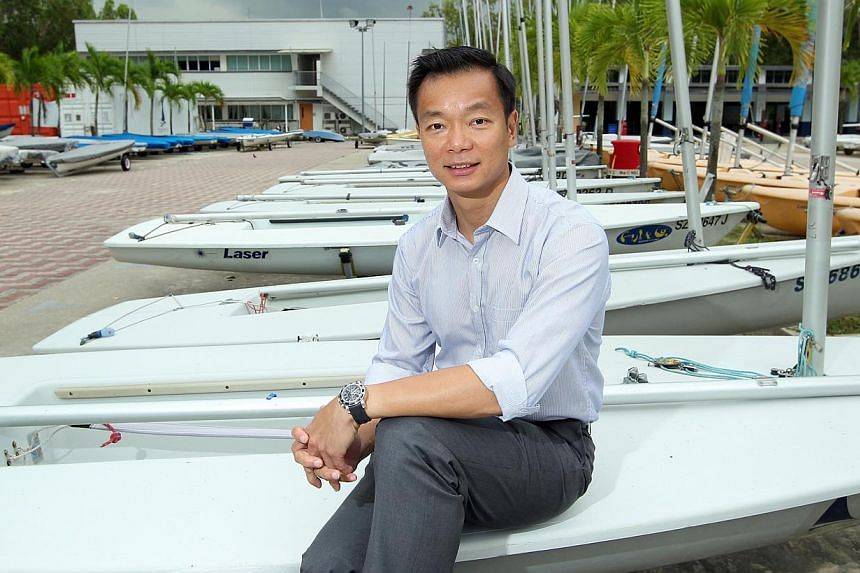 Dr Ben Tan, who has officially put his name up as a candidate for the post of Nominated MP, says that with the growing profile of local sports, there is greater pressure to keep tabs on the investments in the industry. -- ST PHOTO: SEAH KWANG PENG