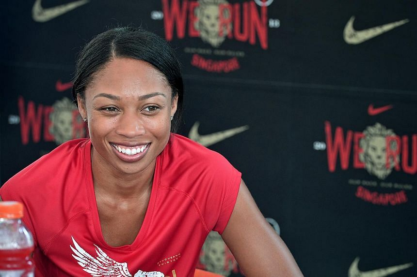 Multi-medal winning athlete Allyson Felix said on Saturday that 2014 would be a crucial year following her recent injury setback, as she aims to make an instant impact at the Shanghai Diamond meet. -- ST FILE PHOTO: KUA CHEE SIONG
