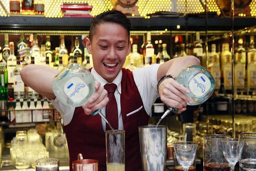 Singaporean Peter Chua, winner ofSoutheast Asia Best Bartender of the Year at the inaugural Diageo Reserve World Class Southeast Asia Finals and Bar Show 2014. -- PHOTO:DIAGEO