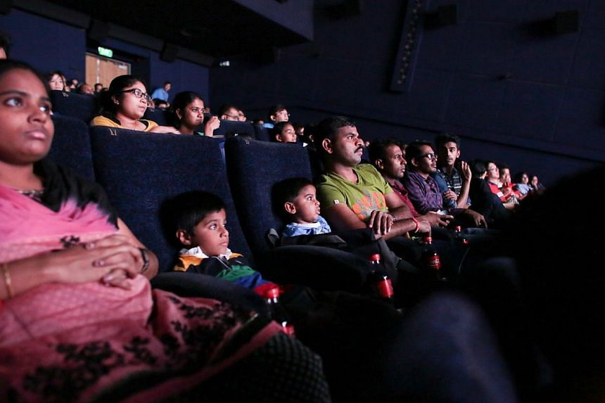 About 10,500 foreign workers enjoyed free movies on Sunday, May 18, 2014 as part of the Labour Movement's May Day celebrations. -- PHOTO: NTUC