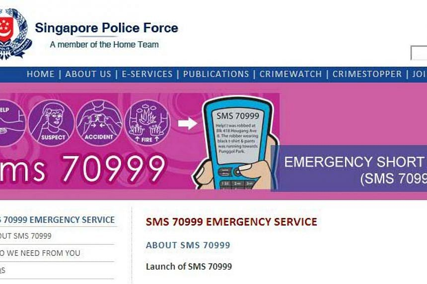 Singapore is in the lead for many technology rollouts, one of which lets citizens send a text message to emergency call takers instead of dialing in - a system which drew the praise of Prime Minister Lee Hsien Loong. -- SCREENGRAB: SPF