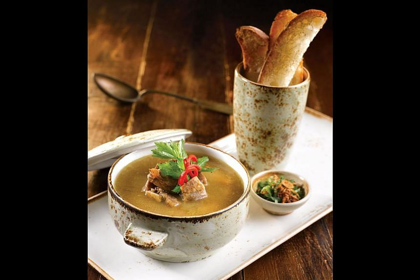 The soup kambing ($19) has a rich broth which is spiced just right. -- PHOTO: FULLERTON BAY HOTEL