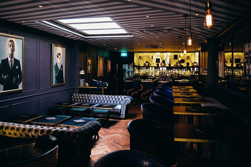 The stylish Art Deco-inspired cocktail bar (above) offers a range of cocktails. -- PHOTO: HOUSE OF DANDY
