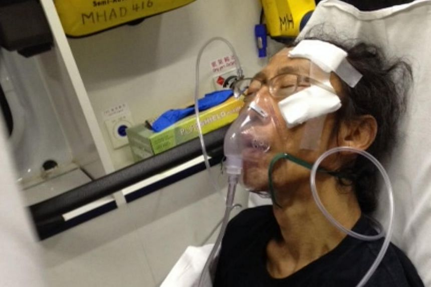 Speculation has been rife on Facebook that Singapore artist Lee Wen, who is seen here in hospital, was attacked after he expressed concern at an arts forum here about Tiananmen soldier-turned-artist Chen Guang. Chen was recently arrested by Beijing t