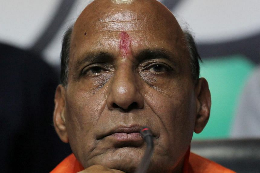 Rajnath Singh is the president of BJP. --PHOTO: EPA