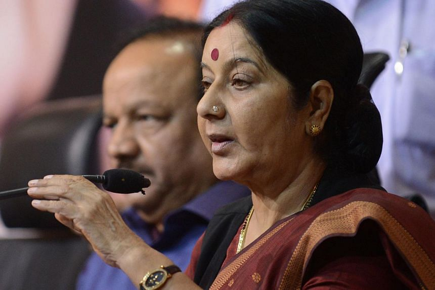 Senior BJP leader Sushma Swaraj is the party's most senior woman leader. --PHOTO: AFP