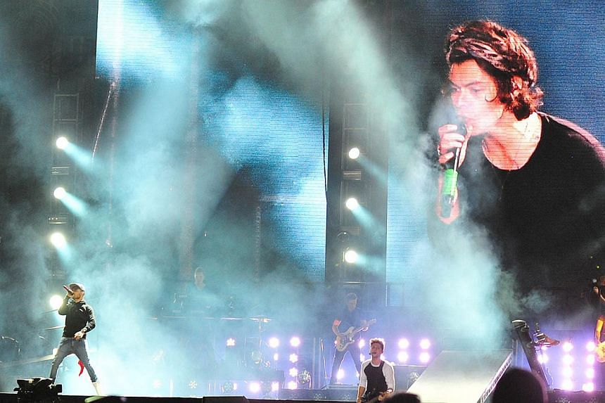 British Group One Direction perform in concert in Santiago, on April 30, 2014. -- FILE PHOTO: AFP